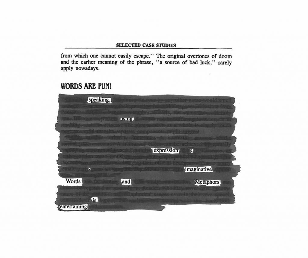 Words Are Fun - Blackout Poetry